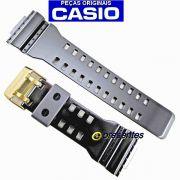 Pulseira Casio G-shock Brilhante Fivela Dourada GA-110GB, GD-100GB, GAC-100BR, GD-100GB, GDF-100GB, GA-710GB