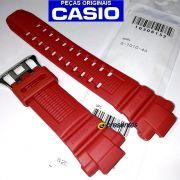 Pulseira Casio G-Shock G-1010-4a Resina Vermelha - 100% Original