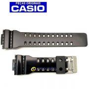 Pulseira Casio G-shock GA-100CS GA-110HC GA-120B GD-100hc GD-100sc Gd-110-1 QW-3400KT Preto Brilhante