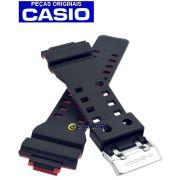 Pulseira Casio G-shock GA-700SE-1A4 GA-400HR-1A  GA-110HR-1A Preto e Vermelho - Peça 100% Original