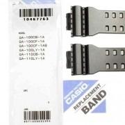 Pulseira Casio G-shock + Par de Pinos Ga-100CB GA-100CF-1a GA-100cf-1a9 GA-100LY GA-110CB GA-110LY GLS-8900-1 Preto Semi Brilhante