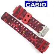 Pulseira Casio GA-100CM-4A GD-120CM-4 G-shock Camuflado Vermelho