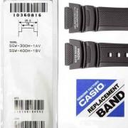 Pulseira Casio + Par de pinos  Sgw-300h Sgw-400h Resina Preta