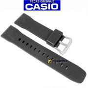 Pulseira Casio Protrek PRG-600-1, PRG-600Y-1 Resina Preta (24mm)