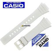 Pulseira Casio W-215H-7A Resina Branca * 100% Original