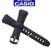 Pulseira Casio W-734 Resina Preta - 100% Original