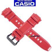 Pulseira Casio W-S220-4A Vermelha  -100% autentica
