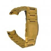 Pulseira De Aço Dourado 17mm Náutica A23595