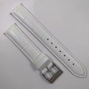 Pulseira De Couro Legítimo Branca 18mm Náutica 95126-3