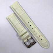 Pulseira De Couro Legítimo Branca 18mm Náutica A12592M