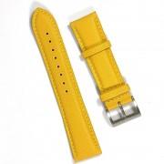 Pulseira De Nylon e Couro Amarela 22mm Náutica 95129-3