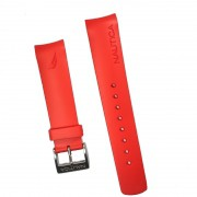 Pulseira De Resina Vermelho 22mm Náutica 95078-1
