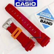 Pulseira DW-6900cb-4 Vermelho  Verniz Casio G-Shock