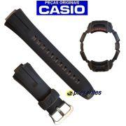 Pulseira e Bezel Capa Gw-300 GW-301 Preto Casio G-shock - 100%  Original