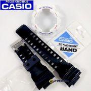 Pulseira e Bezel Casio G-shock GA-100CS-7A Branco Preto Originais