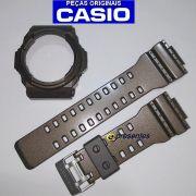 Pulseira e Bezel Casio G-shock GA-300a-5a Marrom Brilhante - 100% Original