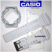 Pulseira e Bezel GA-100L-7A Casio G-shock Branco Acinzentado
