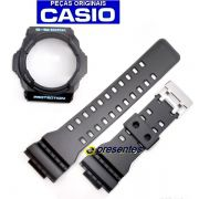 Pulseira e Bezel GA-300BA-1 Casio G-shock Preto Semi Brilhante