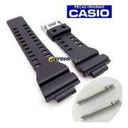Pulseira Preto Fosco  + PAR de Pinos Retrateis GA-100 GA-110 GA-120 GA-300 G-8900 GD-8900 GR-8900 GW-8900 Casio G-shock