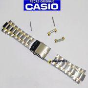Pulseira Relógio Casio EF-329SG-7AV Edifice Aço Inox Pateado e dourado