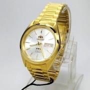 Relógio Automático Orient Dourado FAB00004W9 37mm 3 estrelas