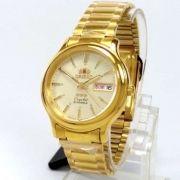 Relógio Automático Orient Dourado Fab05003c9 36mm 3estrelas