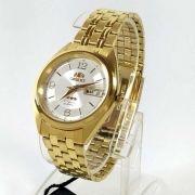 Relógio Automático Orient Dourado Masculino FAB0000CW9 36mm 3estrelas