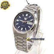 Relógio Automático Seiko 5 SNXS77K Aço Inox Azul 37MM