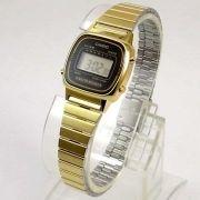 Relógio Casio Feminino Mini Dourado Retro La670wga-1df