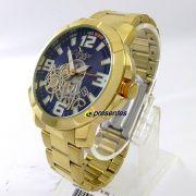 Relógio Condor Dourado Grande Masculino Civic CO2415BI/4A 56mm