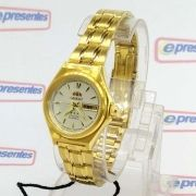 Relógio de Pulso Feminino Orient Automatico Dourado FNQ1S002W9