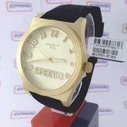 Relógio Feminino Dourado Grande Speedo wr50 Analogico 43mm 64011LPEVDI2