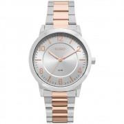 Relógio Euro Feminino Bicolor Trendy Prata EU2036YLW/5K