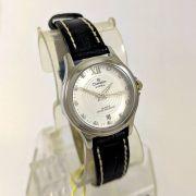 Relógio Feminino Champion CA28814Q prateado Pulseira couro 27mm
