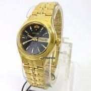 Relógio Feminino Orient Automatico Dourado Mini Fnq0400Fb9