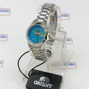 Relógio Feminino Orient Automatico Fundo AZUL FNQ18004L9 WR50