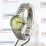 Relógio Feminino Orient Automatico Mini Prateado Fnq04004c9