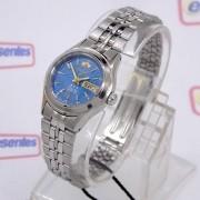 Relógio Feminino Orient Automatico Mini Prateado Fnq04005d9