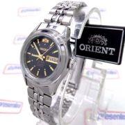 Relógio Feminino Orient Automatico Mini Prateado / PRETO FNQ04004B9