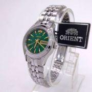 Relógio Feminino Orient Automatico Mini Prateado / VERDE FNQ04004E9