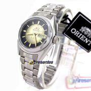 Relógio Feminino Prateado Orient Automatico 25MM FNQ1X001F9