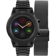 Relógio Inteligente SMARTWATCH Technos Connect Duo Feminino Preto P01AD/4P