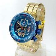 Relogio Invicta 25153 Cronograph Aço Inox Dourado Popeye Collection