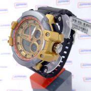 Relógio Masculino AnaDigi Speedo wr50 estilo G-Shock Grande 56mm