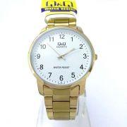Relógio Masculino Dourado Inox Q&Q QA46J004Y - Maq Citizen