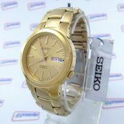 Relógio Masculino Seiko Automatico Dourado 38mm SNKA10K1