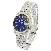 Relógio Masculino Seiko Automatico SNK371K1 Aço Inox Fundo Azul