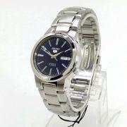 Relógio Masculino Seiko Automático SNKA05K1 Aço Inox Fundo Azul