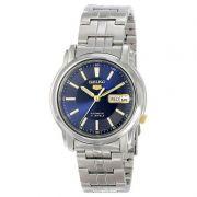 Relógio Masculino SNKL79K1 Seiko Automatico Azul Aço Inox 38MM SEIKO-5