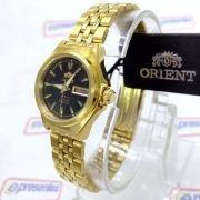 Relógio Orient Automatico Feminino Mini Dourado FNQ1S001B9